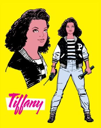 Tiffany's introductory photo in Paper Girls #1 Credit: Paper Girls/Image Comics